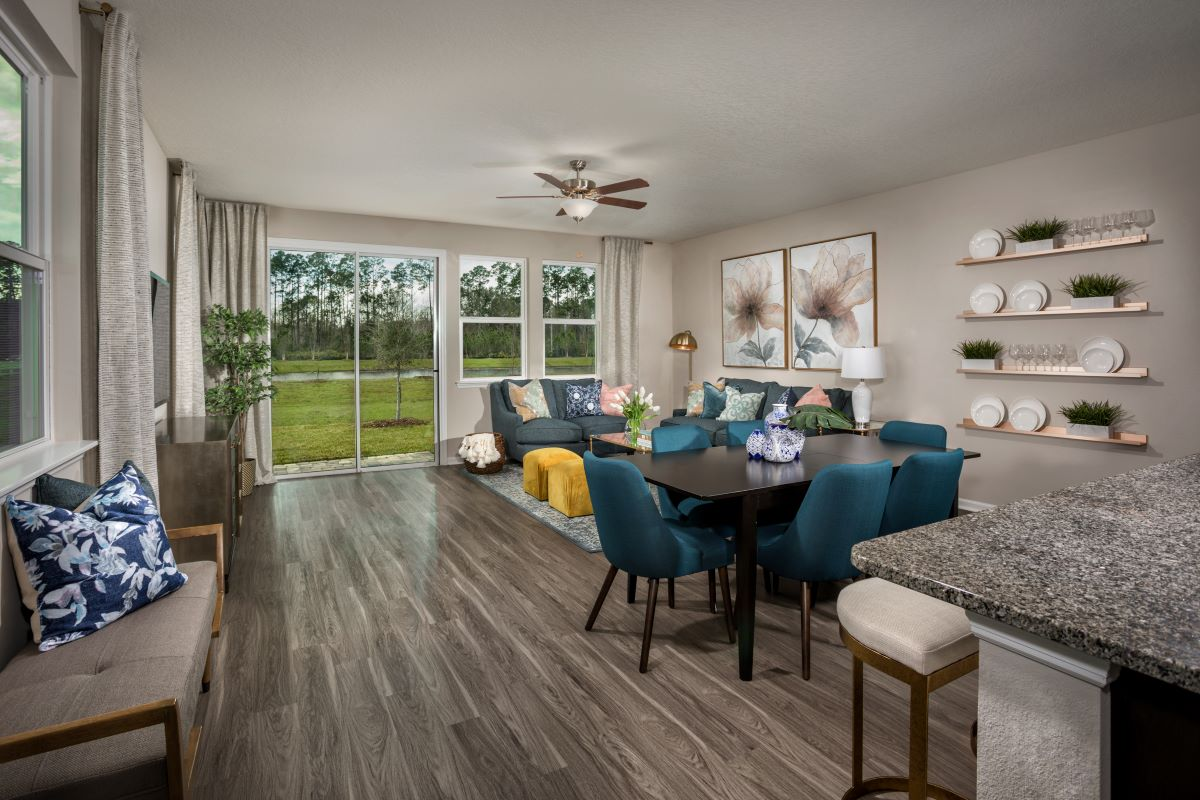 New Homes in St. Augustine, FL - Orchard Park The Pearce Great Room