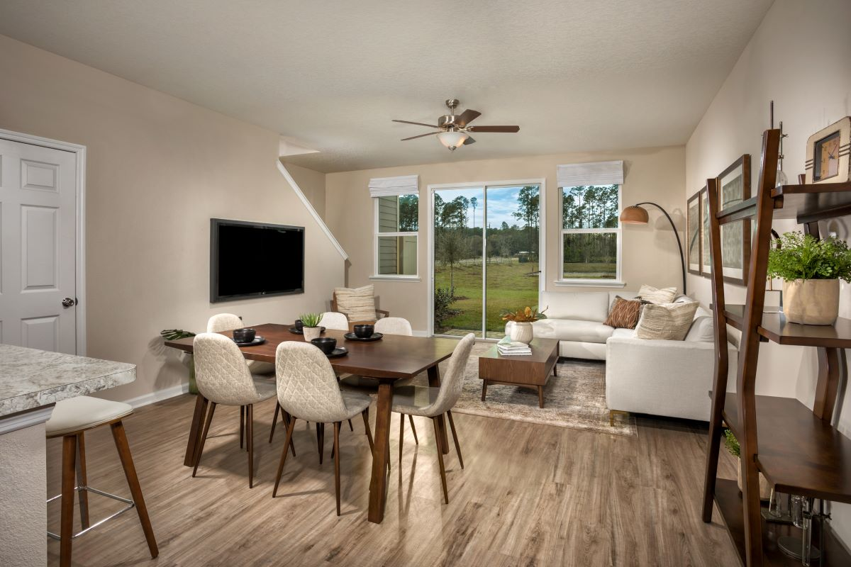 New Homes in St. Augustine, FL - Orchard Park Townhomes The Warren Great Room