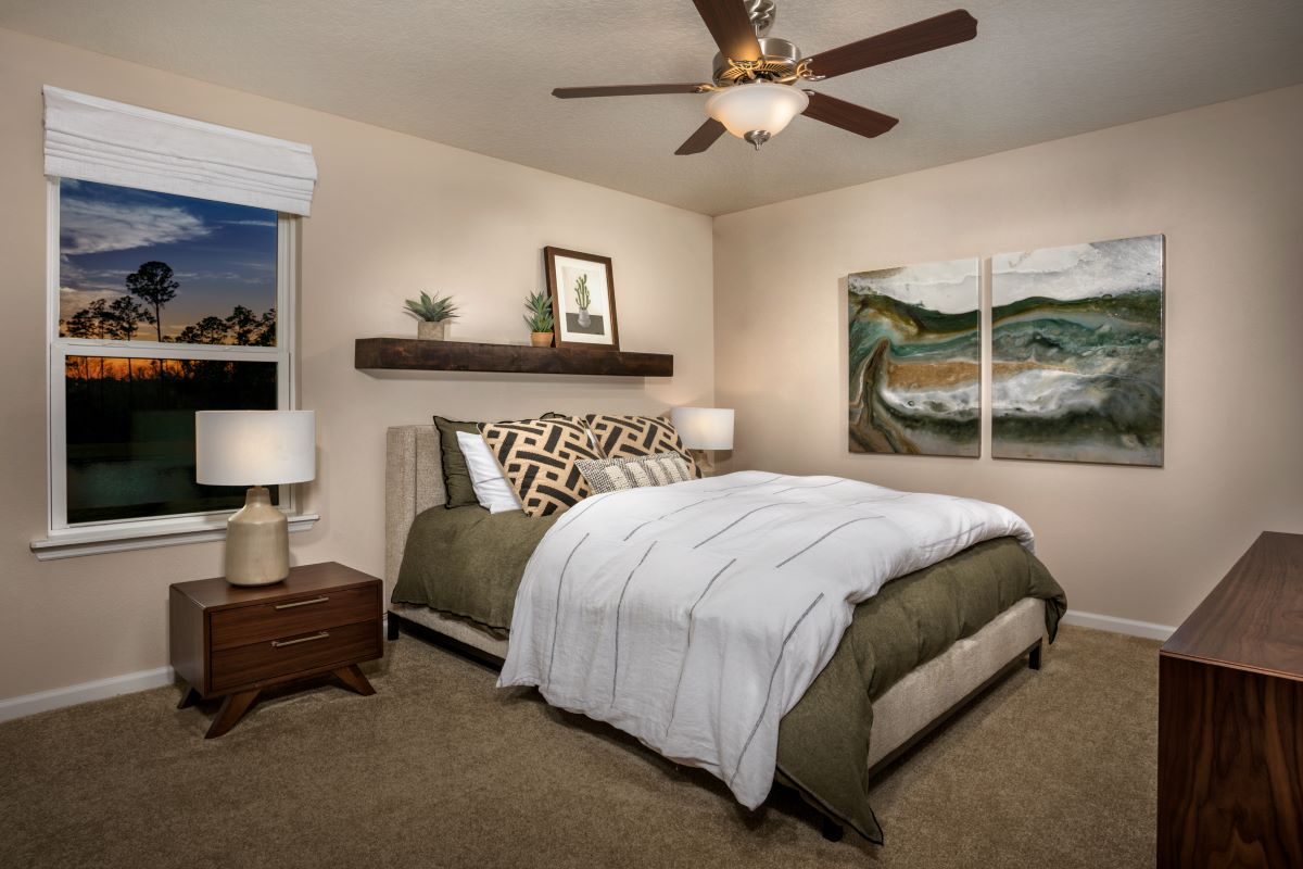 New Homes in St. Augustine, FL - Orchard Park Townhomes The Warren Master Bedroom