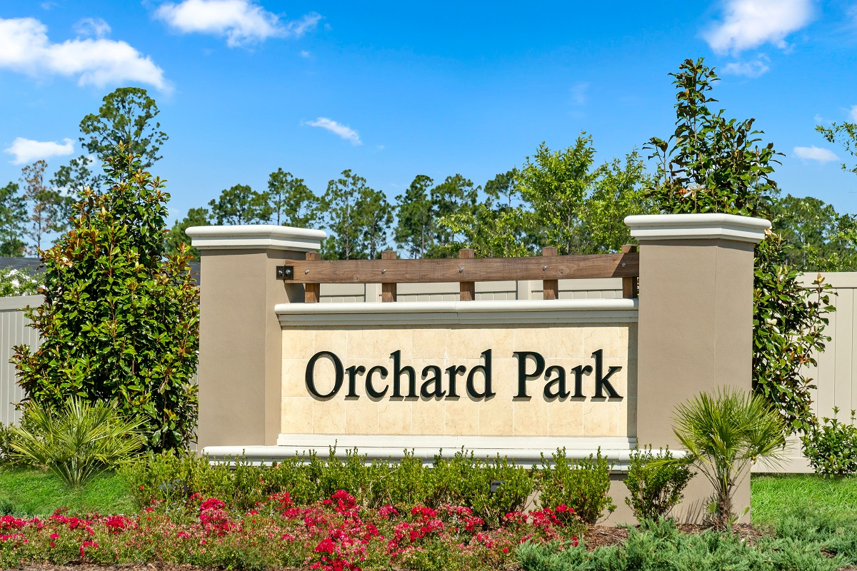 New Homes in St. Augustine, FL - Orchard Park Community Entrance