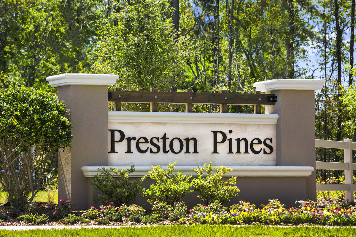 New Homes in Jacksonville, FL - Preston Pines Entry Monument
