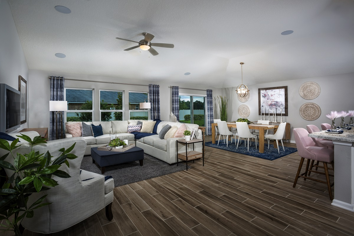 New Homes in Jacksonville, FL - Price Park The Claremont Great Room