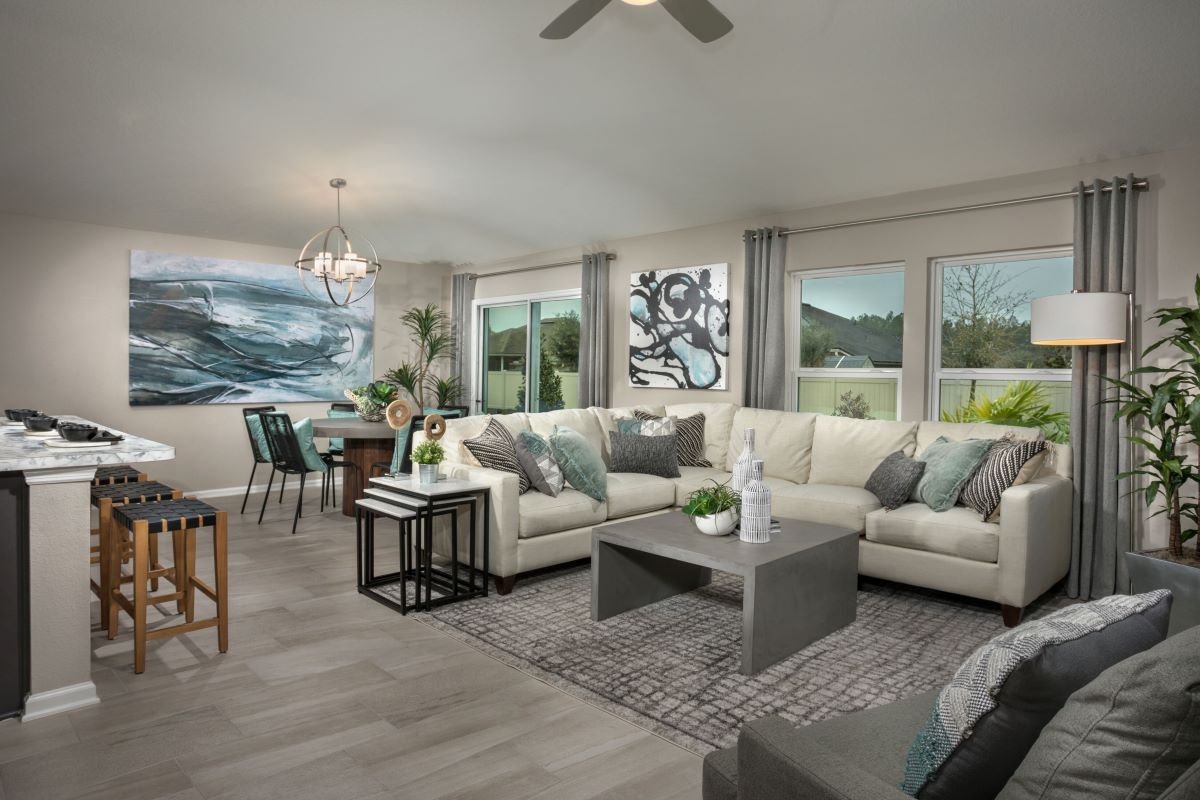 New Homes in Jacksonville, FL - Sandler Lakes The Berkley Great Room