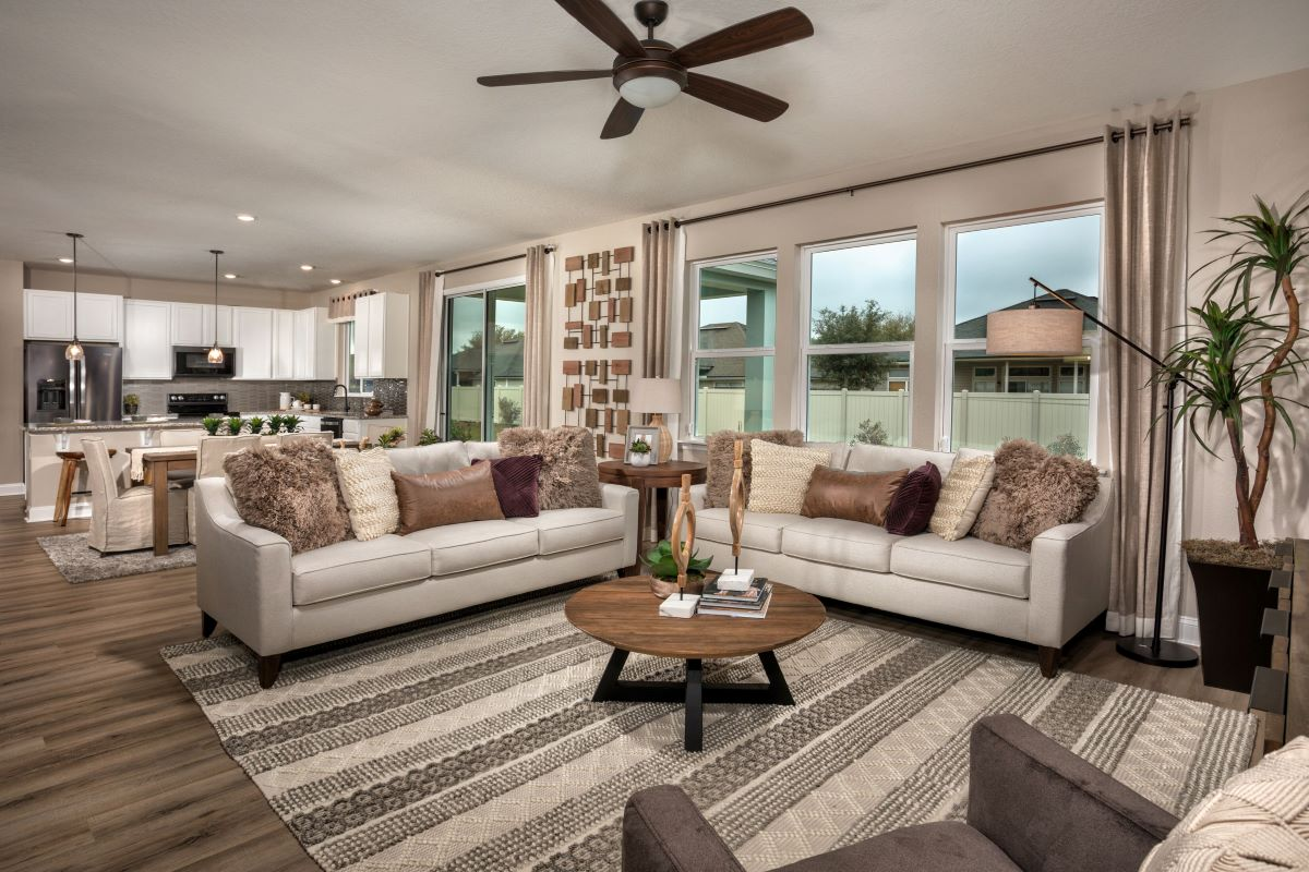 New Homes in Jacksonville, FL - Sandler Lakes The Sullivan Great Room