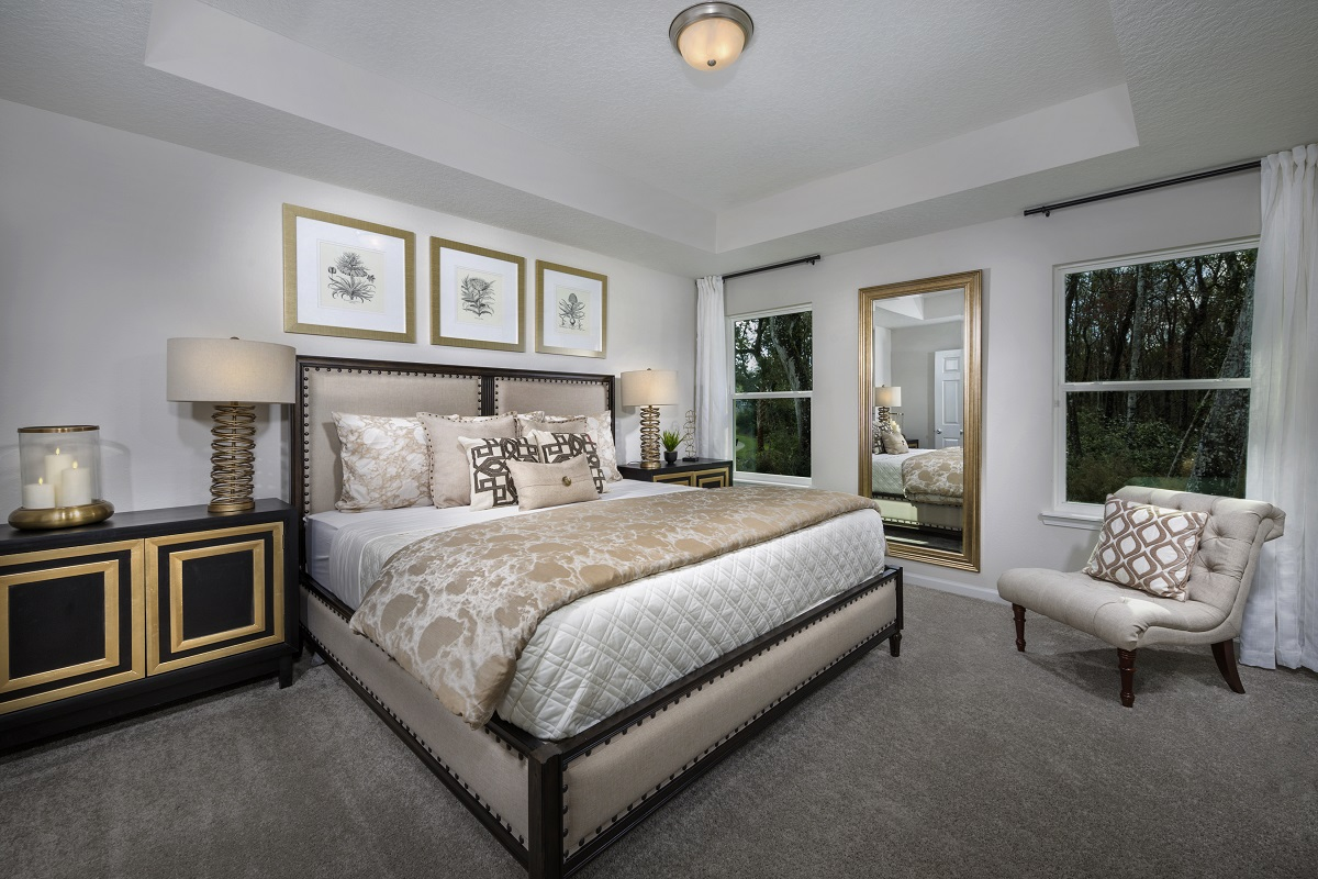 New Homes in St. Augustine, FL - Sawmill Landing The Crestview Master Bedroom