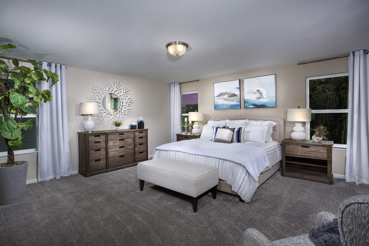 New Homes in St. Augustine, FL - Sawmill Landing The Savannah Master Bedroom