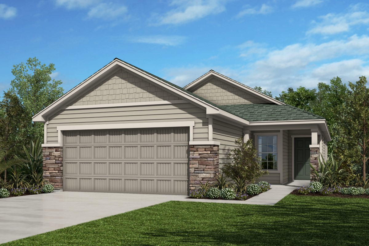 New Homes in St. Augustine, FL - Southshore at Bannon Lakes - Classic Series Plan 1638 Elevation N
