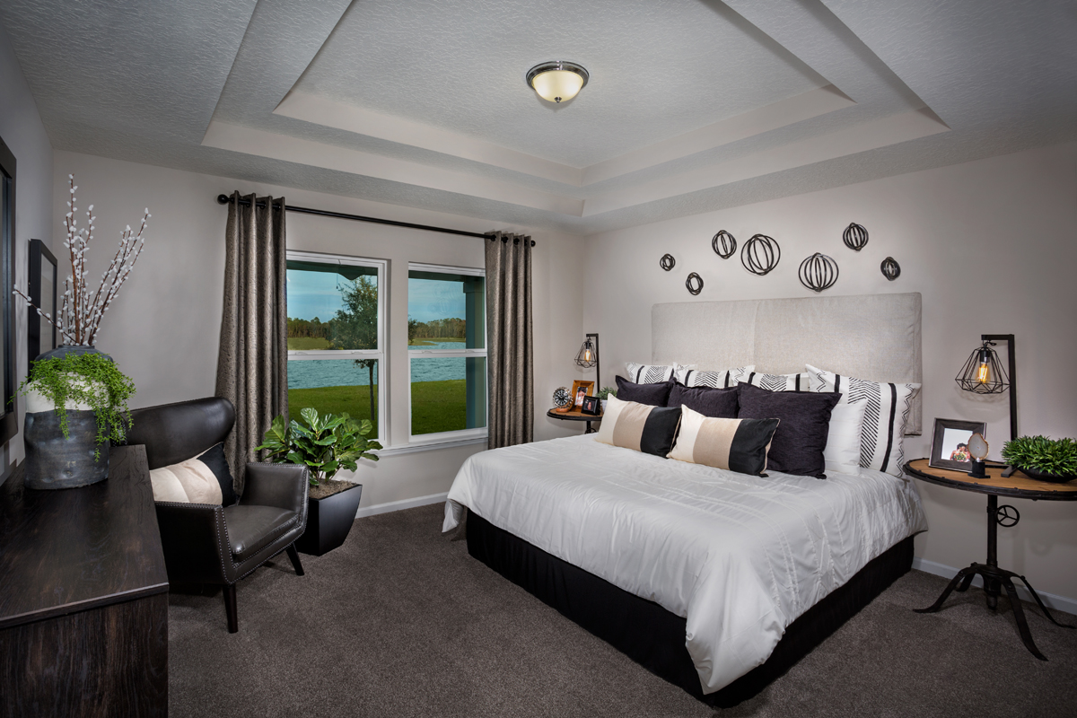 New Homes in St. Augustine, FL - Southshore at Bannon Lakes - Classic Series The Kingsley Master Bedroom