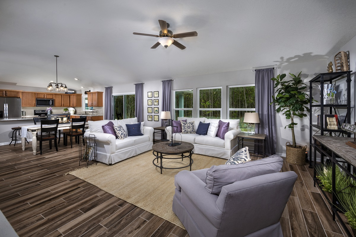 New Homes in St. Augustine, FL - Tomoka Pines The Sullivan Great Room