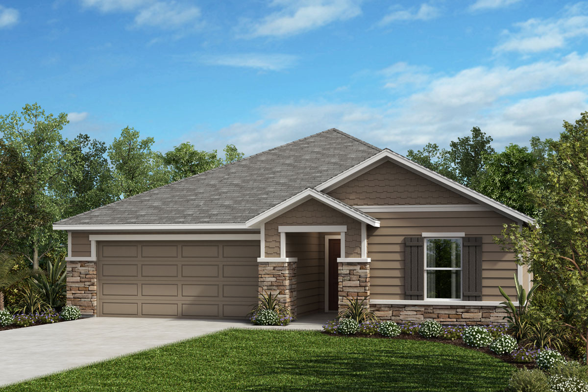 New Homes in Jacksonville, FL - Elevation N with optional stone