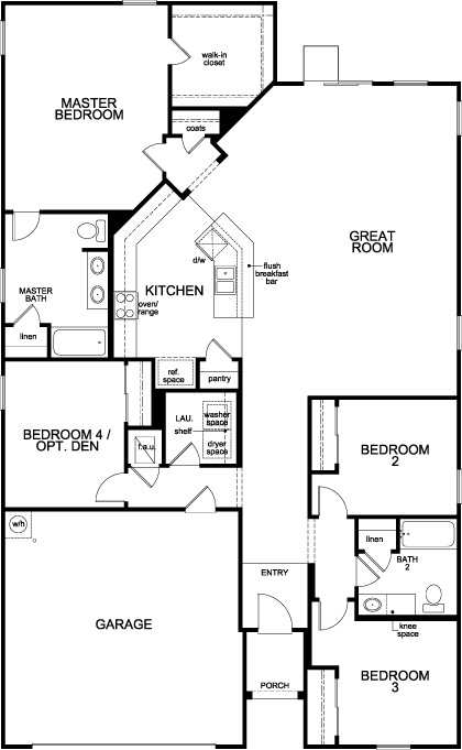 New Homes in Green Cove Springs, FL - Plan 2003, First Floor