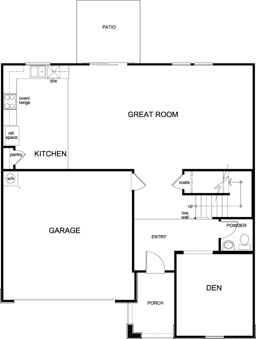 New Homes in Jacksonville, FL - Plan 2566, First Floor