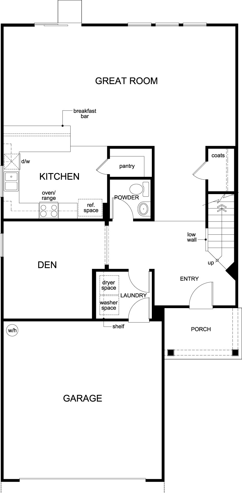 New Homes in Jacksonville, FL - Plan 2387, First Floor