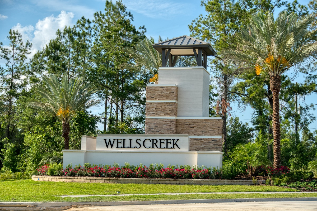 New Homes in Jacksonville, FL - The Preserve at Wells Creek - Classic Series Community Entrance