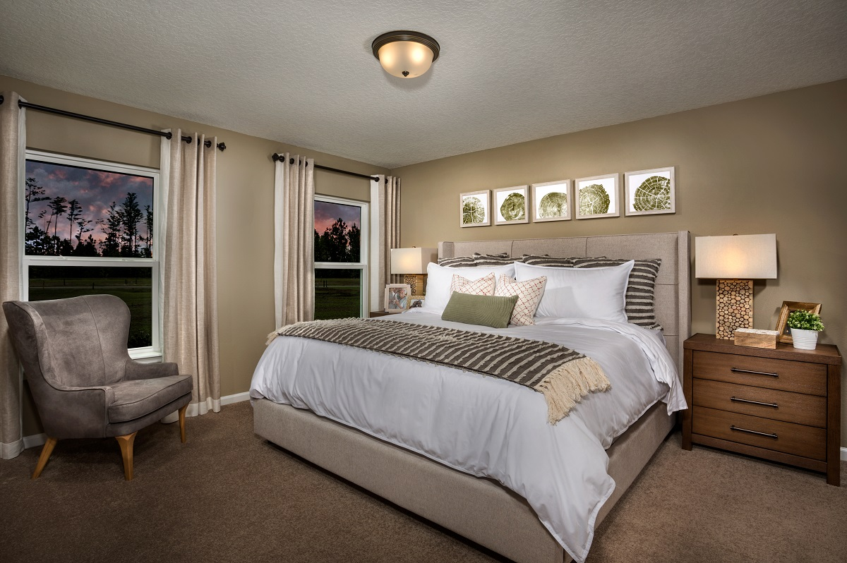 New Homes in Jacksonville, FL - The Preserve at Wells Creek - Classic Series The Branson Master Bedroom