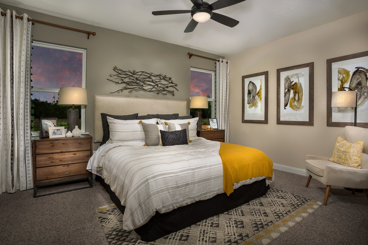 New Homes in Jacksonville, FL - The Preserve at Wells Creek - Classic Series The Darby Master Bedroom