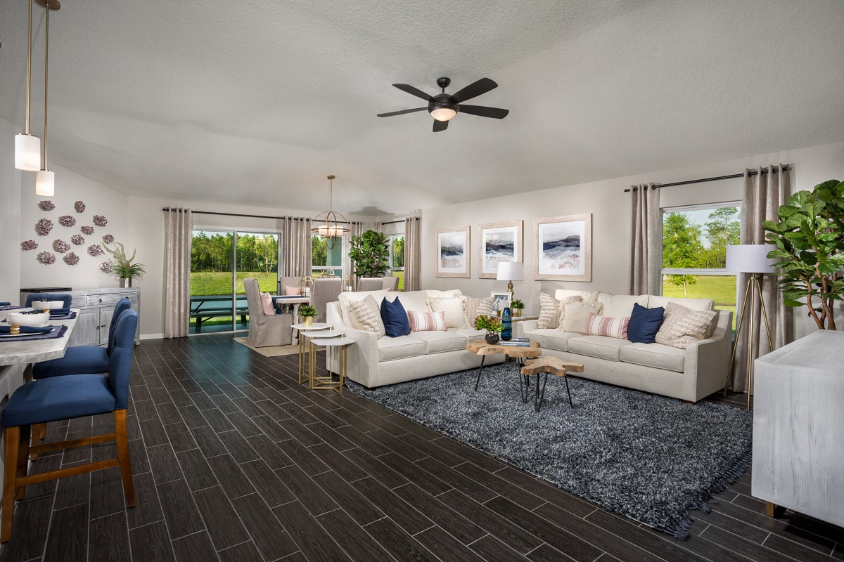 New Homes in Jacksonville, FL - The Preserve at Wells Creek - Executive Series The Hayden Great Room