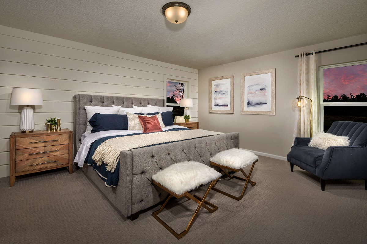 New Homes in Jacksonville, FL - The Preserve at Wells Creek - Executive Series The Hayden Master Bedroom