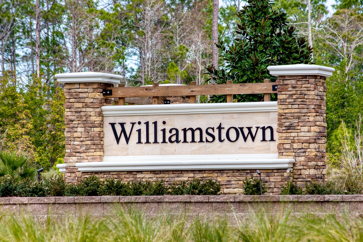 New Homes in Jacksonville, FL - Williamstown Entry Monument