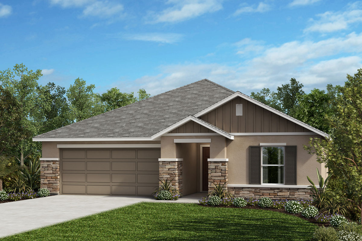 New Homes in Lakeland, FL - Elevation H (with optional Stone)