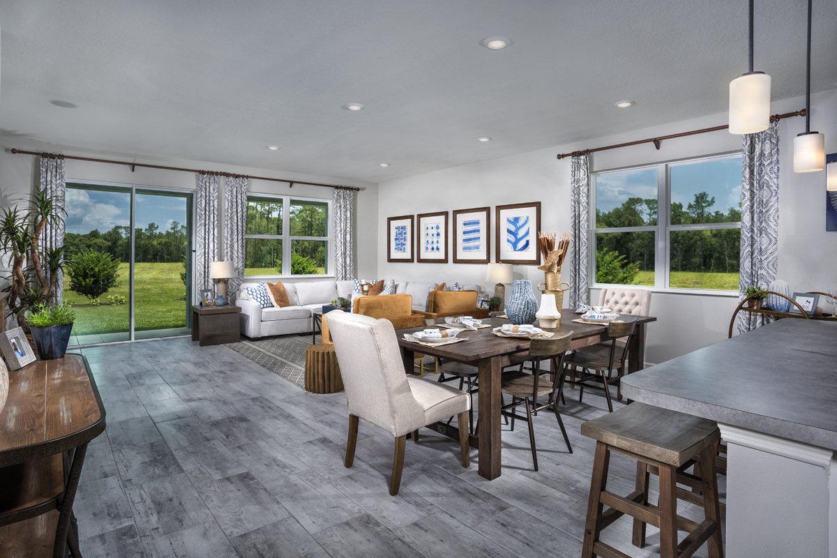 New Homes in Lakeland, FL - Cayden Reserve 2168 Great Room