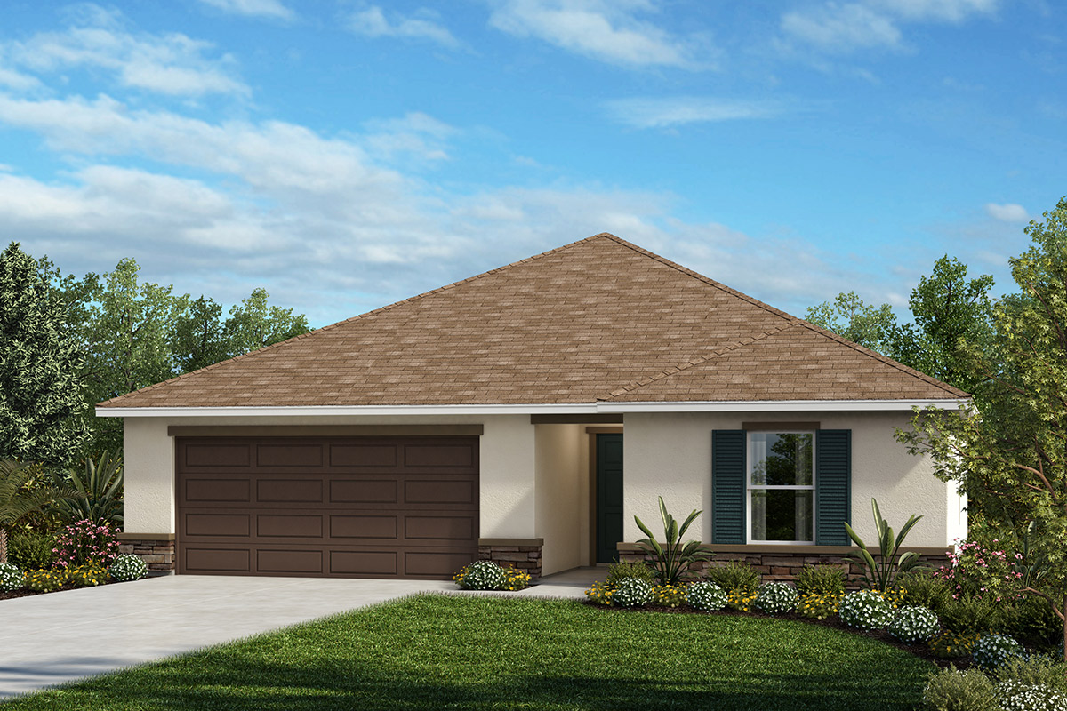 New Homes in Winter Haven, FL - Elevation A with optional stone