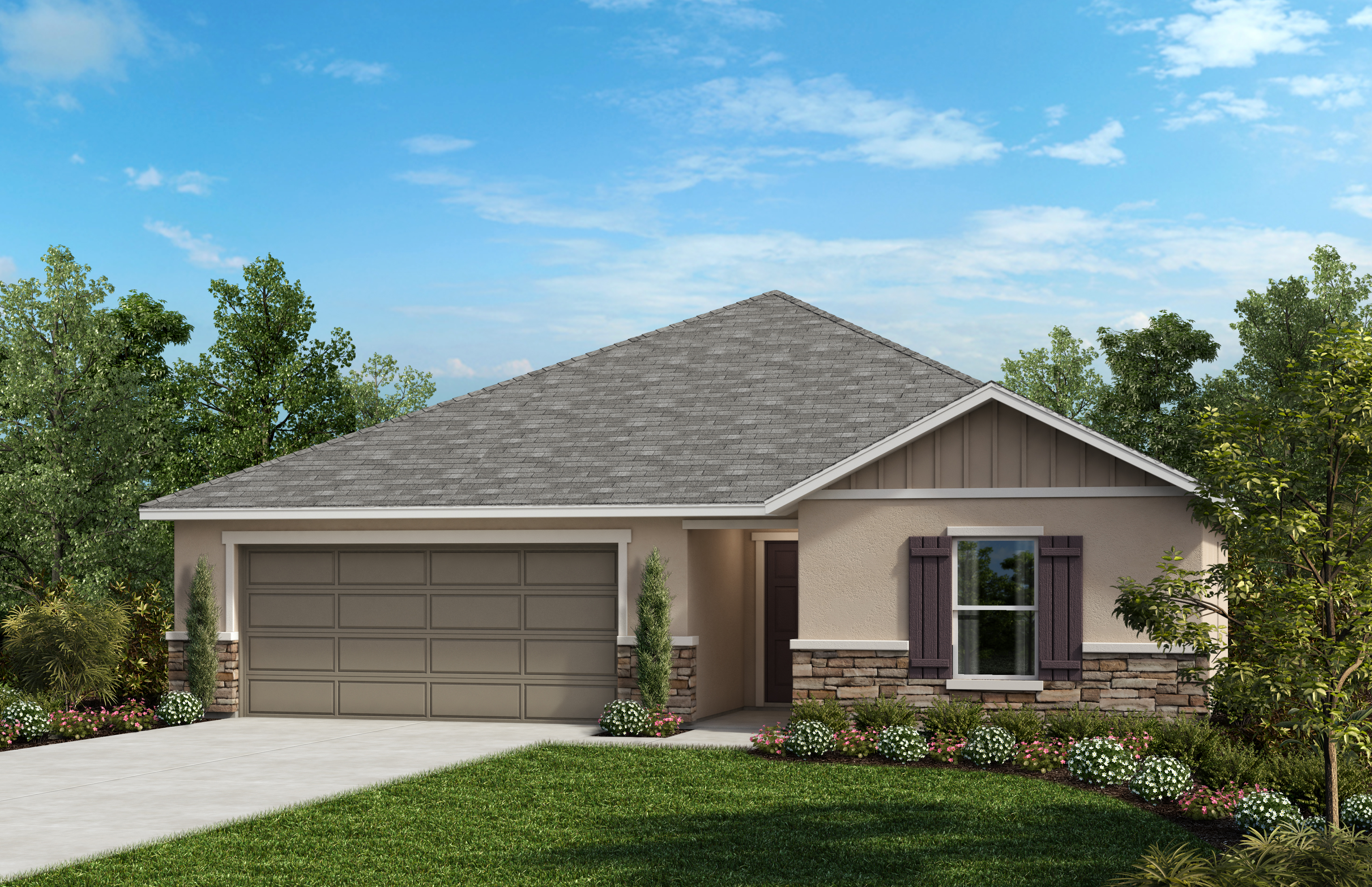 New Homes in Winter Haven, FL - Elevation G with optional stone
