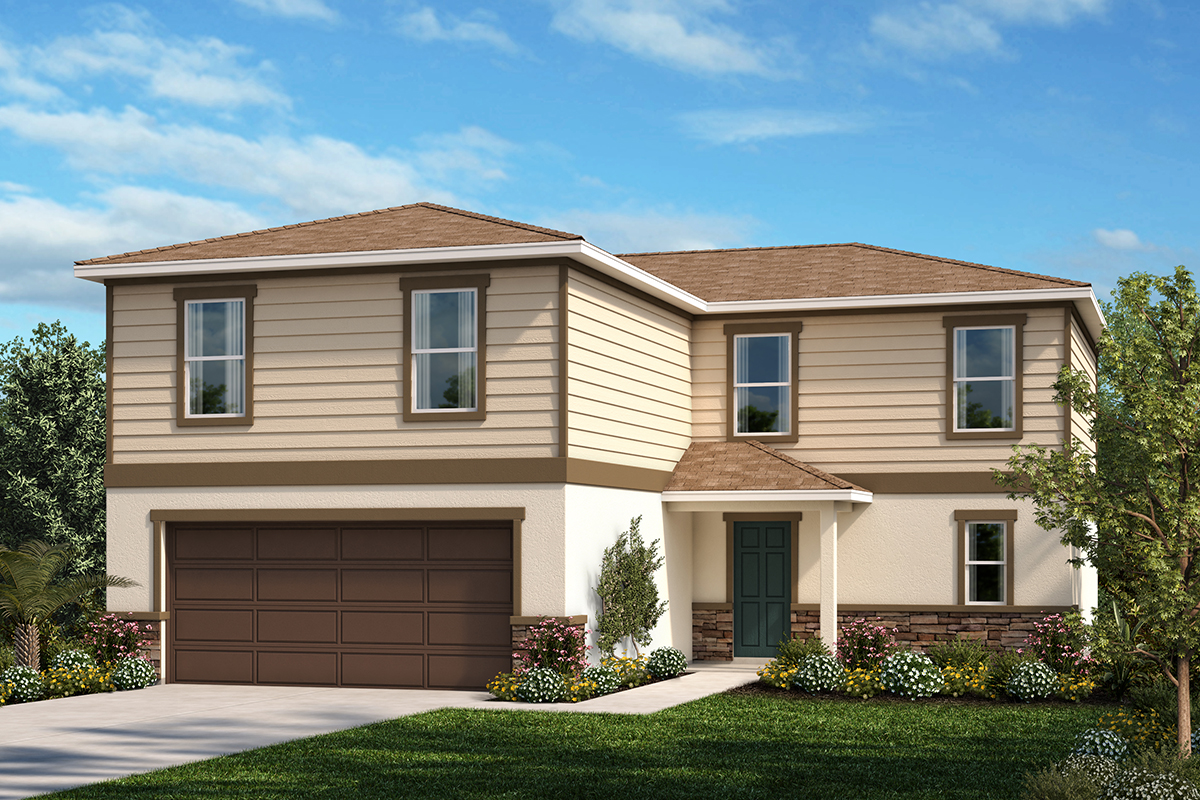 New Homes in Winter Haven, FL - Elevation E with optional stone