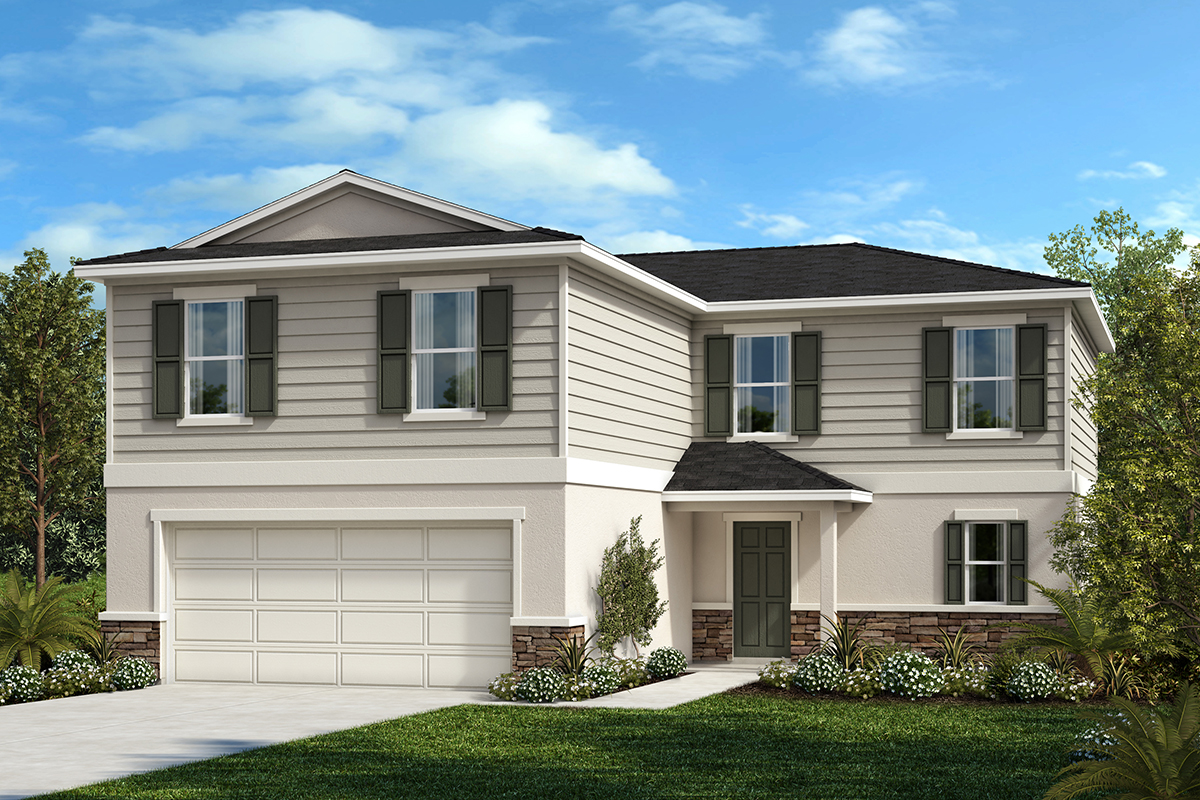 New Homes in Winter Haven, FL - Elevation F with optional stone