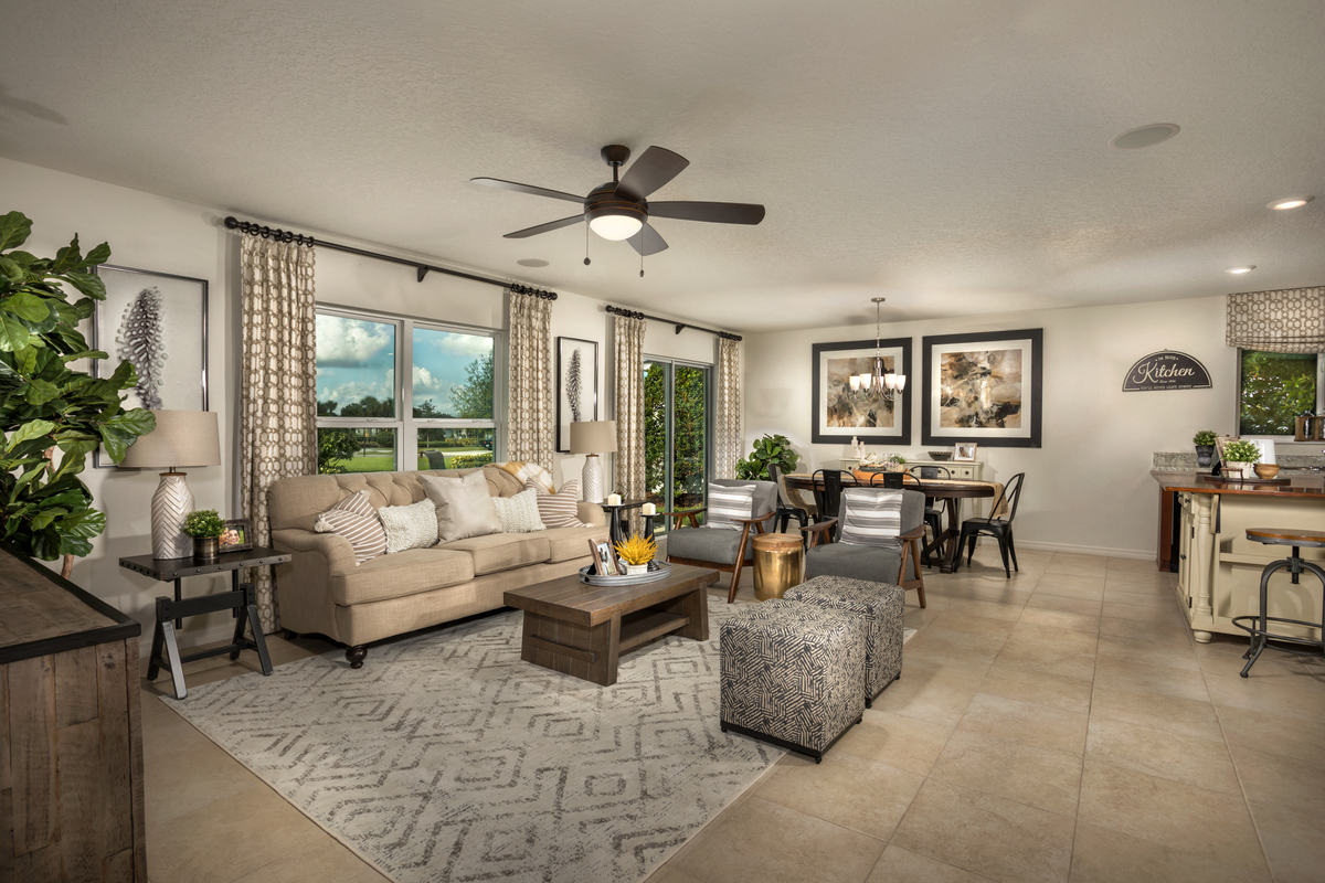 New Homes in Winter Haven, FL - Lake Lucerne Plan 1707 Great Room