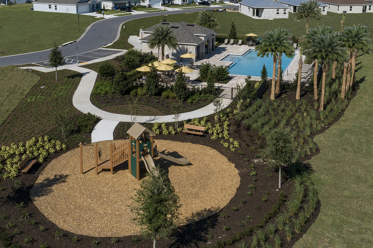 New Homes in Winter Haven, FL - Lake Lucerne Community Amenity - Aerial View