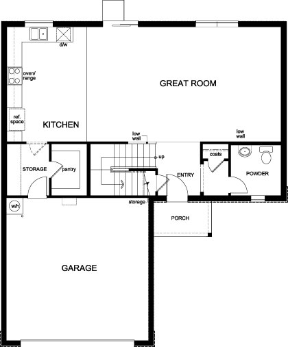 New Homes in Winter Haven, FL - Plan 2384, First Floor