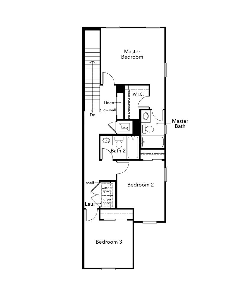 New Homes in Davenport, FL - Plan 1434, Second Floor