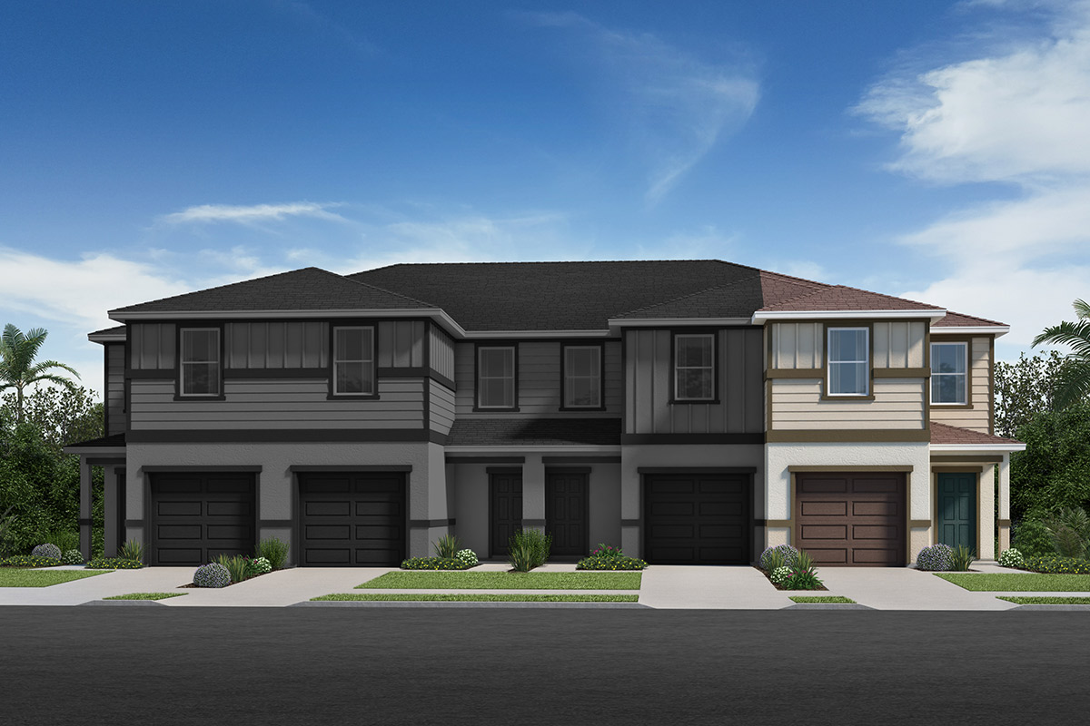New Homes in Davenport, FL - Elevation A / 4-plex