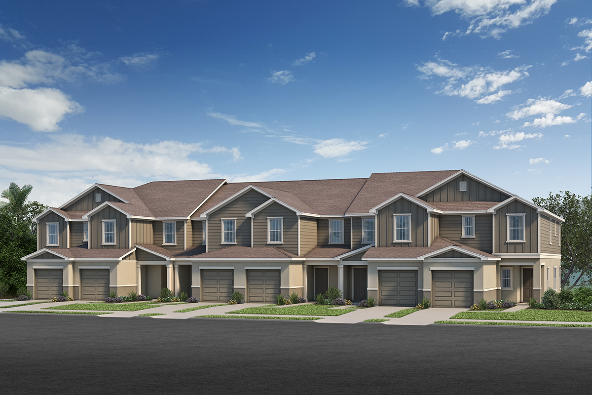 New Homes in Sanford, FL - Landings at Riverbend Townhomes Plan 1557