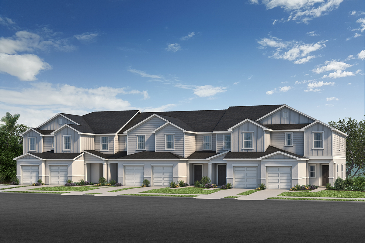 New Homes in Sanford, FL - Landings at Riverbend Townhomes Plan 1463