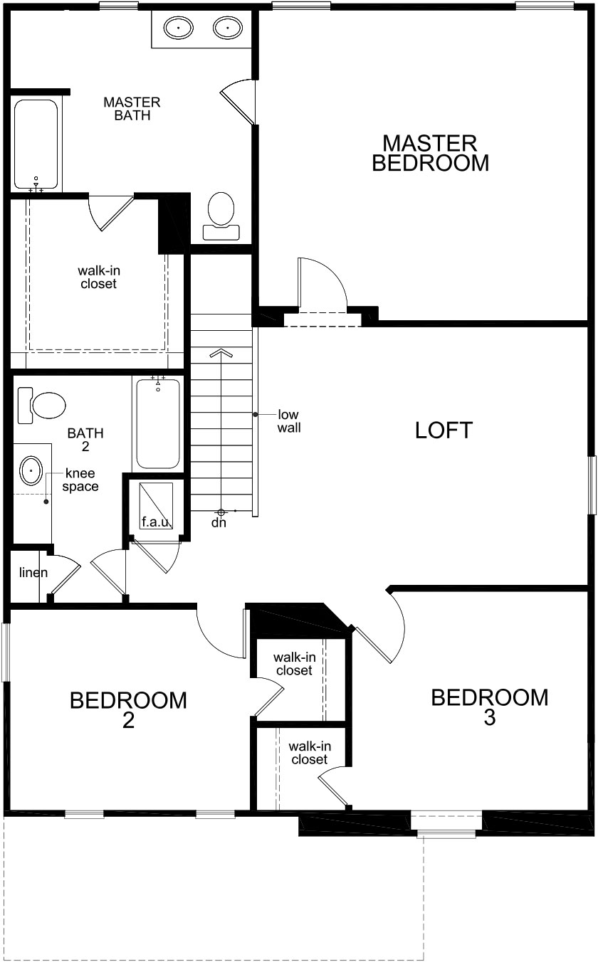 New Homes in St. Cloud, FL - Plan 2107, Second Floor