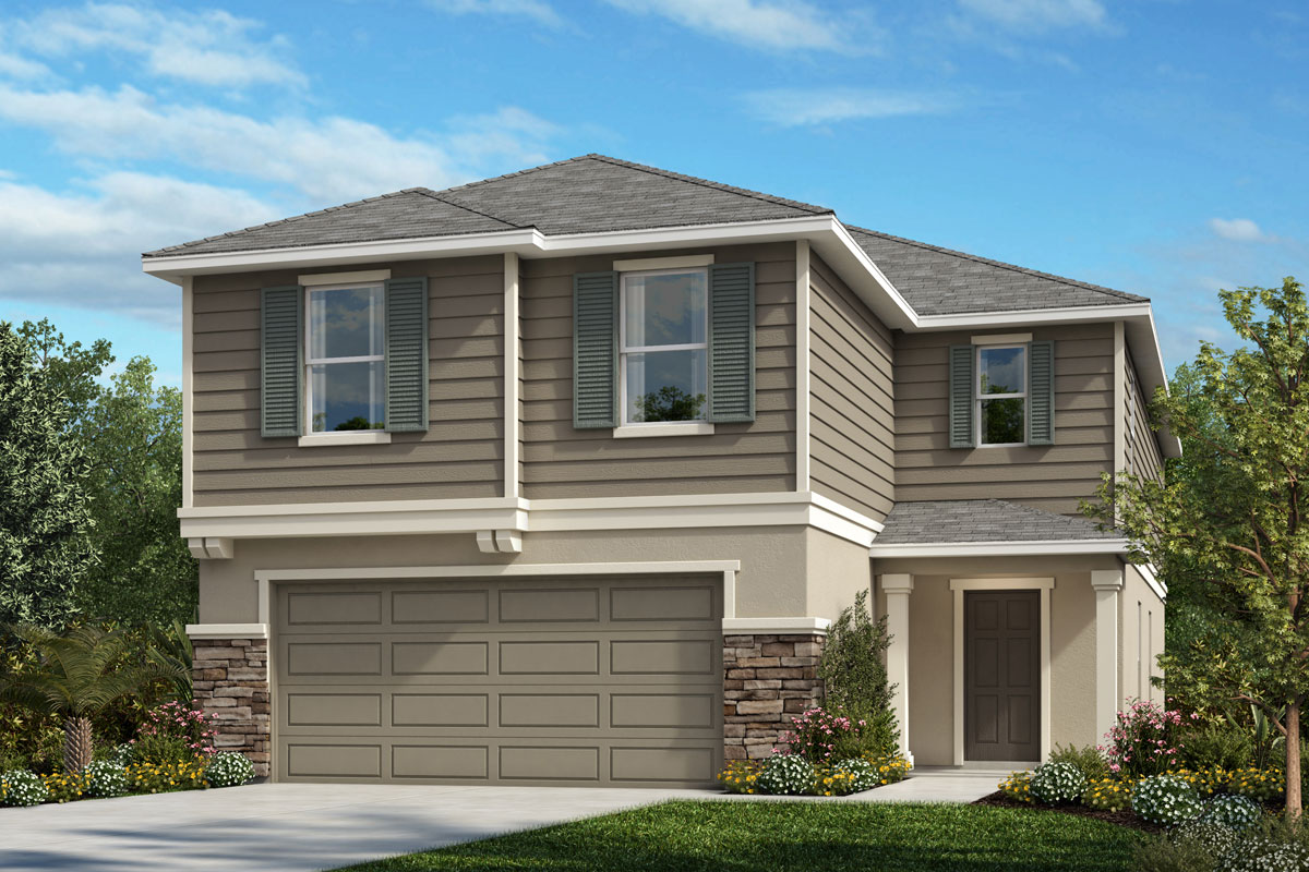 New Homes in Lakeland, FL - Elevation E with optional stone