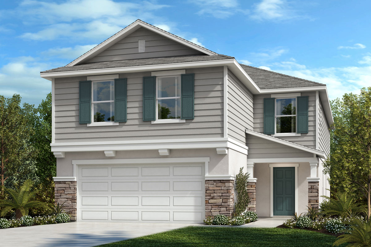 New Homes in Lakeland, FL - Elevation F with optional stone