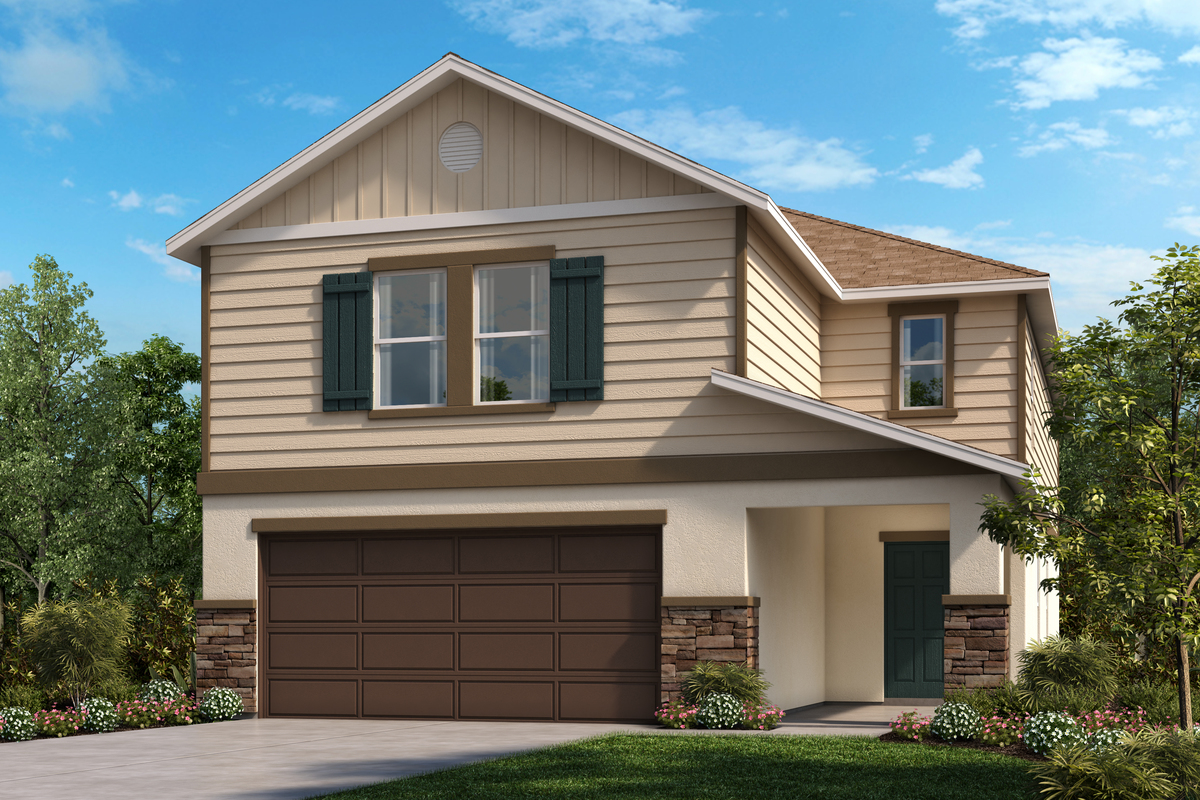 New Homes in Lakeland, FL - Elevation G with optional stone