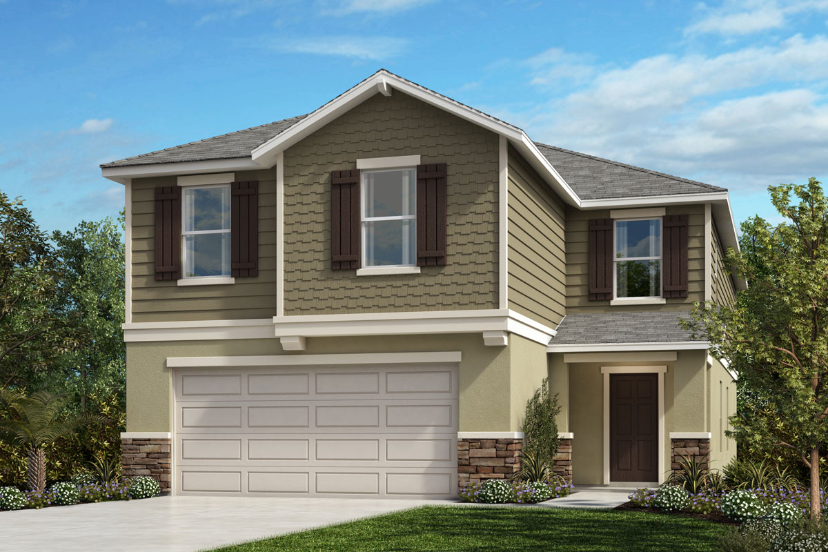 New Homes in Lakeland, FL - Elevation H with optional stone