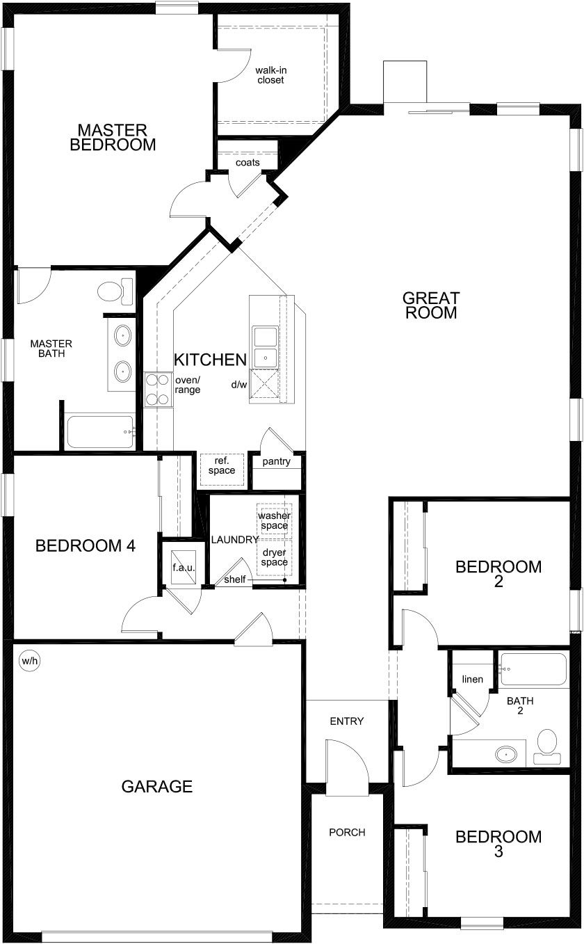 New Homes in Clermont, FL - Plan 1989, First Floor