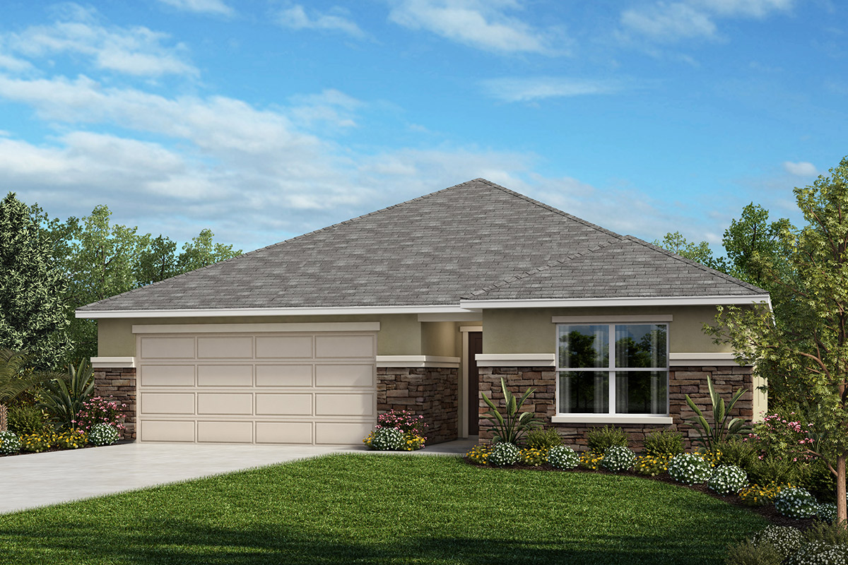 New Homes in Auburndale, FL - Elevation A with optional stone