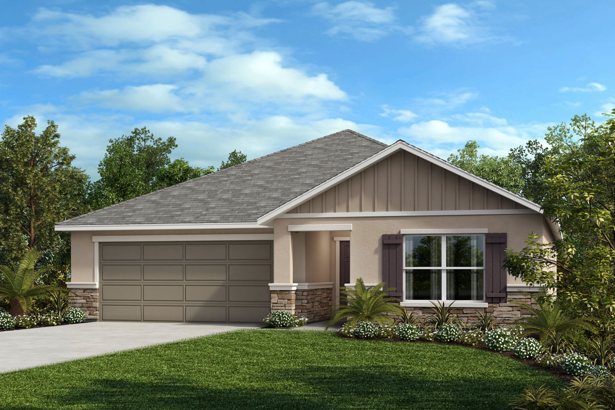 New Homes in Auburndale, FL - Elevation G with optional stone