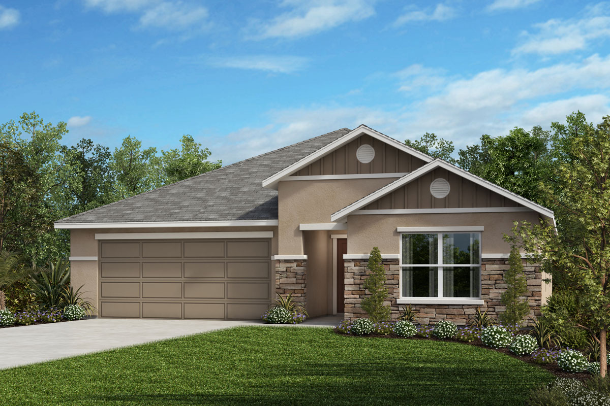 New Homes in Auburndale, FL - Elevation H with optional stone