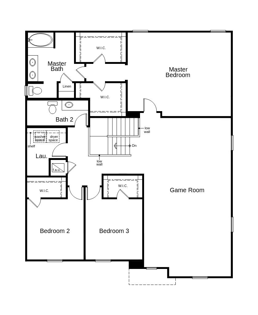New Homes in Minneola, FL - Plan 3203, Second Floor