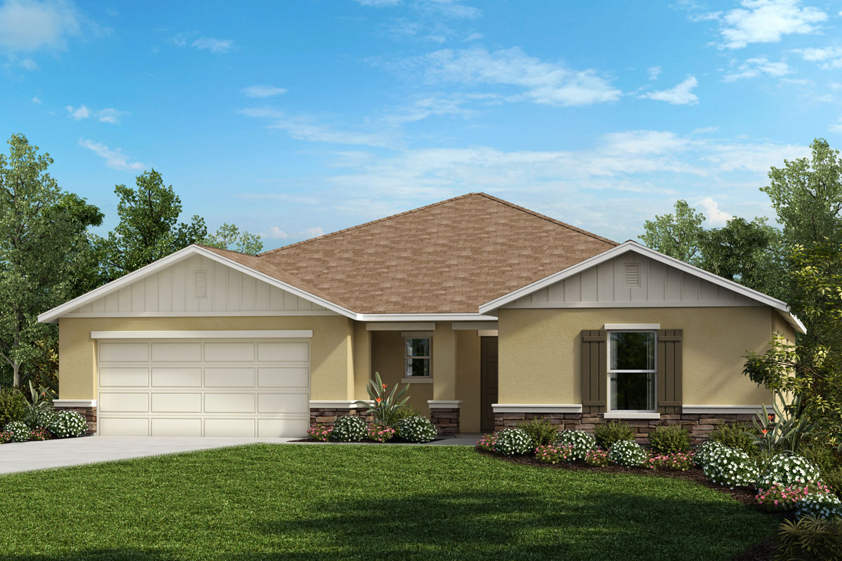 New Homes in Apopka, FL - Elevation G with optional stone