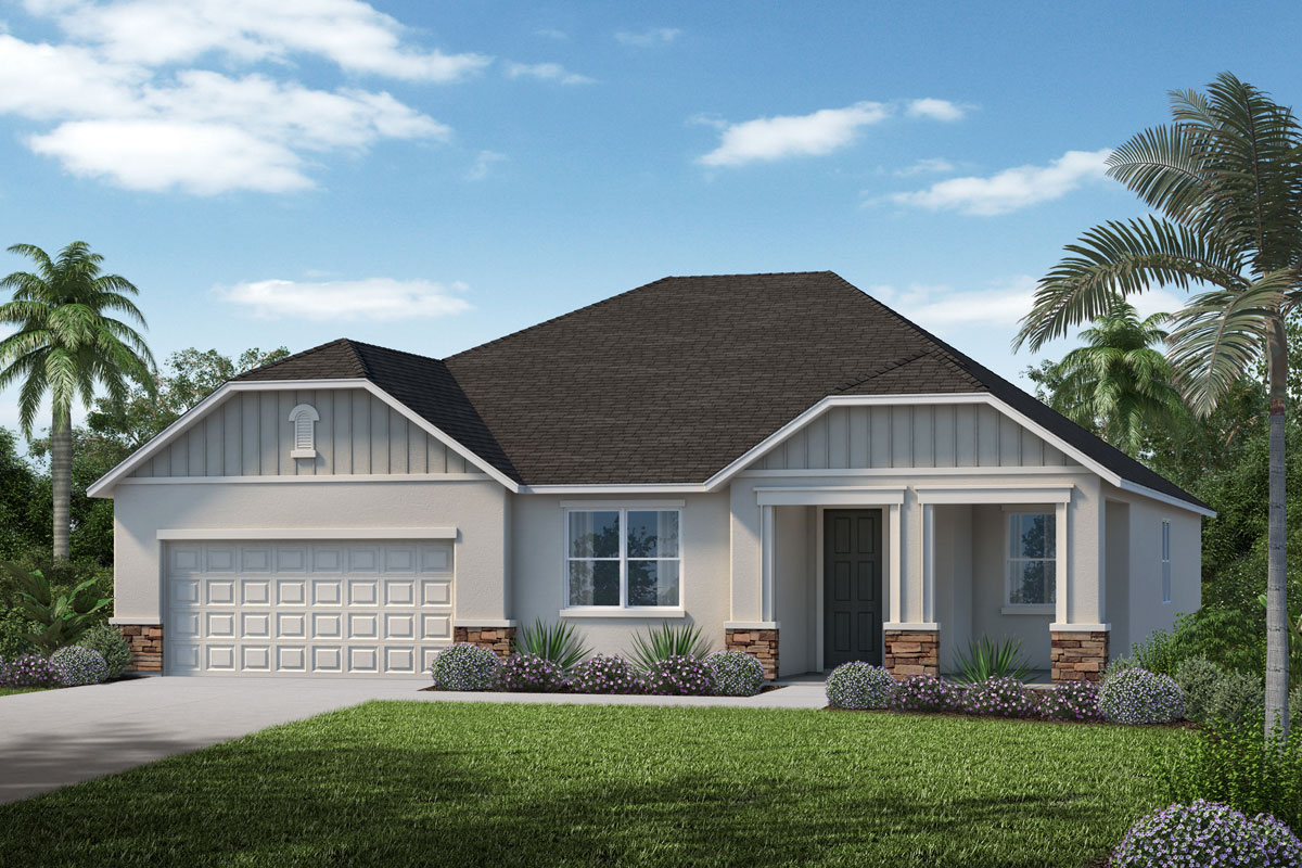 New Homes in Minneola, FL - Elevation H with optional stone