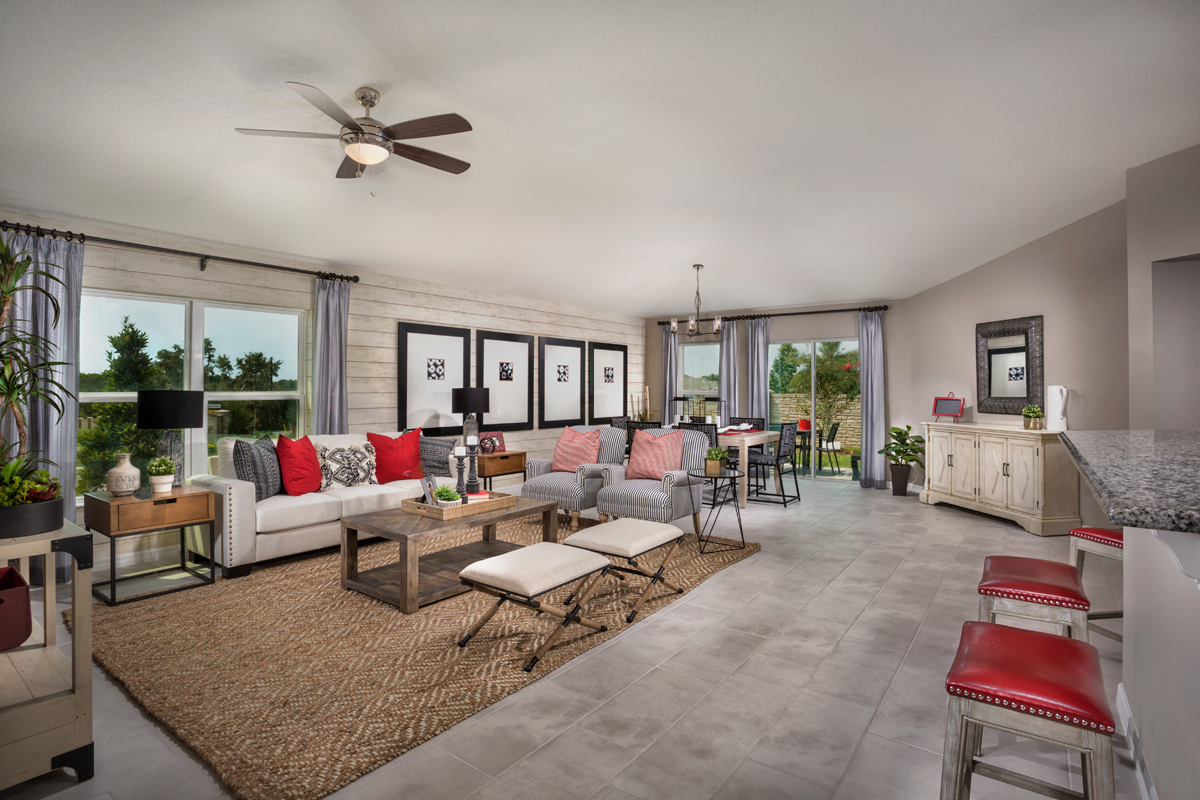 New Homes in Apopka, FL - Carriage Hill Plan 1723 Great Room