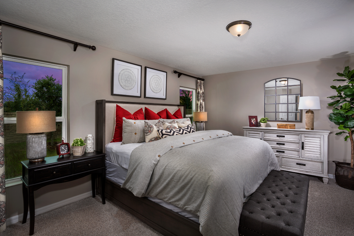 New Homes in Apopka, FL - Carriage Hill Plan 1723 Master Bedroom